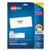 EASY PEEL WHITE ADDRESS LABELS W/ SURE FEED TECHNOLOGY, INKJET PRINTERS, 1.33 X 4, WHITE, 14/SHEET, 25 SHEETS/PACK