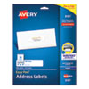 EASY PEEL WHITE ADDRESS LABELS W/ SURE FEED TECHNOLOGY, INKJET PRINTERS, 1 X 4, WHITE, 20/SHEET, 25 SHEETS/PACK