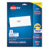 <strong>Avery®</strong><br />Easy Peel White Address Labels w/ Sure Feed Technology, Laser Printers, 1 x 2.63, White, 30/Sheet, 25 Sheets/Pack