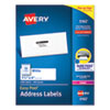 <strong>Avery®</strong><br />Easy Peel White Address Labels w/ Sure Feed Technology, Laser Printers, 1.33 x 4, White, 14/Sheet, 100 Sheets/Box