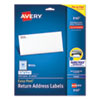 <strong>Avery®</strong><br />Easy Peel White Address Labels w/ Sure Feed Technology, Inkjet Printers, 0.5 x 1.75, White, 80/Sheet, 25 Sheets/Pack