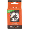 Lexmark 42 Black Return Program Print Cartridge
