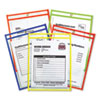 "Stitched Shop Ticket Holder, Neon, Assorted 5 Colors, 75"", 9 x 12, 25/BX"