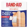 <strong>BAND-AID®</strong><br />Plastic Adhesive Bandages, 3/4 x 3, 60/Box