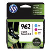 <strong>HP</strong><br />HP 962, (3YP00AN) 3-Pack Cyan/Magenta/Yellow Original Ink Cartridges