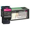 Lexmark™ C540A1MG Toner, 1000 Page-Yield, Magenta LEXC540A1MG