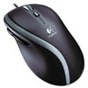 Logitech® M500 Corded Mouse, Three-Button/Scroll, Black/Silver LOG910001204