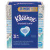 NON-RETURNABLE. TRUSTED CARE FACIAL TISSUE, 2-PLY, WHITE, 144 SHEETS/BOX, 3 BOXES/PACK, 12 PACKS/CARTON