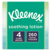 <strong>Kleenex®</strong><br />Lotion Facial Tissue, 2-Ply, White, 65 Sheets/Box, 4 Boxes/Pack