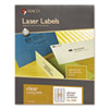 "MACO Laser/Ink Jet Matte Clear Multi-Purpose Labels - Permanent Adhesive - 1"" Width x 2.63"" Length - MACML4000"