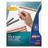Print and Apply Index Maker Clear Label Unpunched Dividers, 8Tab, Letter, 5 Sets