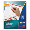 Print and Apply Index Maker Clear Label Dividers, 8 White Tabs, Letter, 50 Sets