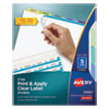 <strong>Avery®</strong><br />Print and Apply Index Maker Clear Label Dividers, 5 Color Tabs, Letter, 5 Sets