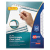 INDEX MAKER PRINT AND APPLY CLEAR LABEL DOUBLE COLUMN DIVIDERS, 24-TAB, LETTER