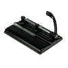 "24-Sheet Lever Action Two- to Seven-Hole Punch, 9/32"" Holes, Black"