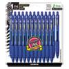 <strong>Zebra®</strong><br />Z-Grip Ballpoint Pen, Retractable, Medium 1 mm, Blue Ink, Clear Barrel, 24/Pack