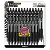 <strong>Zebra®</strong><br />Z-Grip Ballpoint Pen, Retractable, Medium 1 mm, Black Ink, Clear Barrel, 24/Pack
