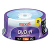 Maxell DVD+R Media, 25 Pack