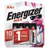MAX Alkaline AA Batteries, 1.5V, 4/Pack