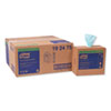NON-RETURNABLE. LOW-LINT CLEANING CLOTH, 9 X 16.5, TURQUOIS, 100/BOX, 8 BOXES/CARTON