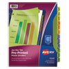<strong>Avery®</strong><br />Durable Preprinted Plastic Tab Dividers, 12-Tab, Jan. to Dec., 11 x 8.5, Assorted, 1 Set