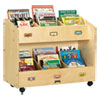 <strong>Jonti-Craft</strong><br />Mobile Section Book Organizers, Six-Section, 36w x 16d x 29.5h, Birch