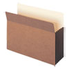 "Redrope Drop-Front File Pockets w/ Fully Lined Gussets, 5.25"" Expansion, Letter Size, Redrope, 10/Box"