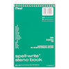 "Mead Spell-Write Steno Book - 80 Sheets - Printed - Wire Bound - 6"" x 9"" - Green Paper - Cardboard C MEA43080"