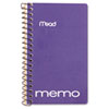 """Mead Wire Binding Coil Memo Notebooks - 60 Sheets - Printed - Wire Bound - 15 lb Basis Weight 3"""" x 5 MEA45534"""