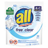 <strong>All®</strong><br />Mighty Pacs Free and Clear Super Concentrated Laundry Detergent, 39/Pack, 6 Packs/Carton