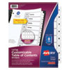 <strong>Avery®</strong><br />Customizable TOC Ready Index Black and White Dividers, 8-Tab, Letter