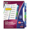 <strong>Avery®</strong><br />Customizable TOC Ready Index Double Column Multicolor Dividers, 16-Tab, Letter