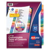 <strong>Avery®</strong><br />Customizable TOC Ready Index Multicolor Dividers, 31-Tab, Letter