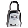 <strong>Master Lock®</strong><br />Locking Combination 5 Key Steel Box, 3 1/4w x 1 5/8d x 4h, Black/Silver