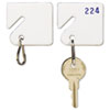 <strong>SteelMaster®</strong><br />Slotted Rack Key Tags, Plastic, 1 1/2 x 1 1/2, White, 20/Pack