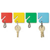 <strong>SteelMaster®</strong><br />Slotted Rack Key Tags, Plastic, 1 1/2 x 1 1/2, Assorted, 20/Pack