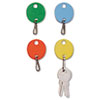 <strong>SteelMaster®</strong><br />Oval Snap-Hook Key Tags, Plastic, 1 1/2 x 1 1/2, Assorted, 20/Pack