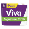 <strong>Viva®</strong><br />Signature Cloth Choose-A-Sheet Kitchen Roll Paper Towels, 1-Ply, 11x5.9, White, 83 Sheets/Roll, 6 Rolls/Pack, 4 Packs/Carton