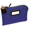 <strong>MMF Industries&#8482;</strong><br />Seven-Pin Security/Night Deposit Bag, Two Keys, Cotton Duck, 11 x 8 1/2, Blue