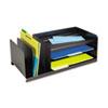 SteelMaster® Legal-Size Organizer, Seven Sections, Steel, 25 7/8 x 11 x 8 1/8, Black MMF264202004