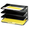 SteelMaster® Steelmaster Multi-Tier Horizontal Legal Organizers, Four Tier, Steel, Black MMF2644HLBK