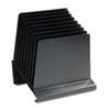 SteelMaster® Slanted Vertical Organizer, Eight Sections, Steel, 11 x 9 1/4 x 12, Black MMF264808BK