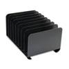 SteelMaster® Desktop Vertical Organizer, Eight Sections, Steel, 15 x 11 x 8 1/8, Black MMF2648004