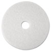 "Super Polish Floor Pad 4100, 12"" Diameter, White, 5/Carton"
