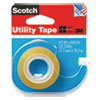 """UTILITY TAPE WITH DISPENSER, 1"""" CORE, 0.5"""" X 22.22 YDS, CLEAR"""