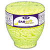 E·A·Rsoft Neon Tapered Earplug Refill, Cordless, Yellow, 500/Box
