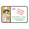 Post-it® Self-Stick Cork Bulletin and Dry Erase Board, 36 x 22, White, Black Frame MMM558BBDE
