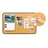 Post-it® Sticky Cork Self-Stick Bulletin Board, 36 x 22, Natural, Black Frame MMM558BB