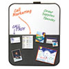 Post-it® Self-Stick/Dry Erase Combination Board, 22 x 18, Gray/White, Charcoal Frame MMM558CBS