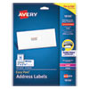 EASY PEEL WHITE ADDRESS LABELS WITH SURE FEED TECHNOLOGY, INKJET PRINTERS, 1 X 2.63, WHITE, 30/SHEET, 10 SHEETS/PACK